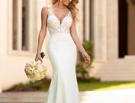Simple and Sleek Wedding Gown
