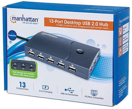 Hub de escritorio con 13 puertos USB de Alta Velocidad