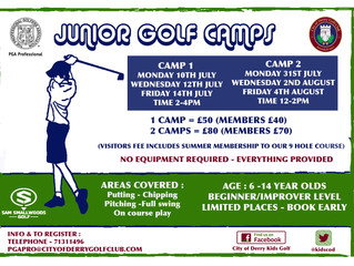 SUMMER GOLF CAMPS