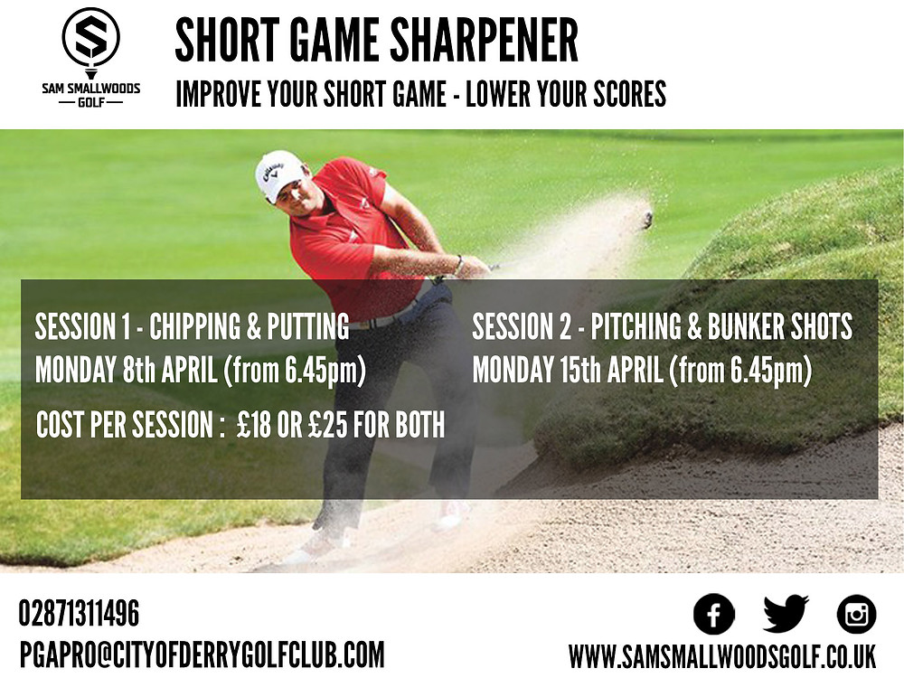 Short game lesson poster