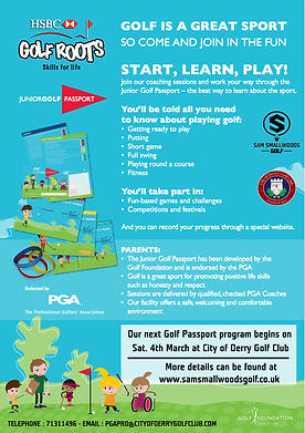 Junior Golf Passport lessons at City of Dery Golf Club
