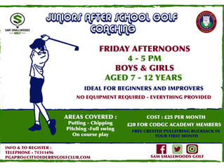 JUNIOR AFTER SCHOOL COACHING (7-12 YEAR OLDS)