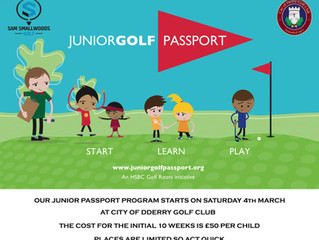 JUNIOR GOLF PASSPORT (MARCH 2017)