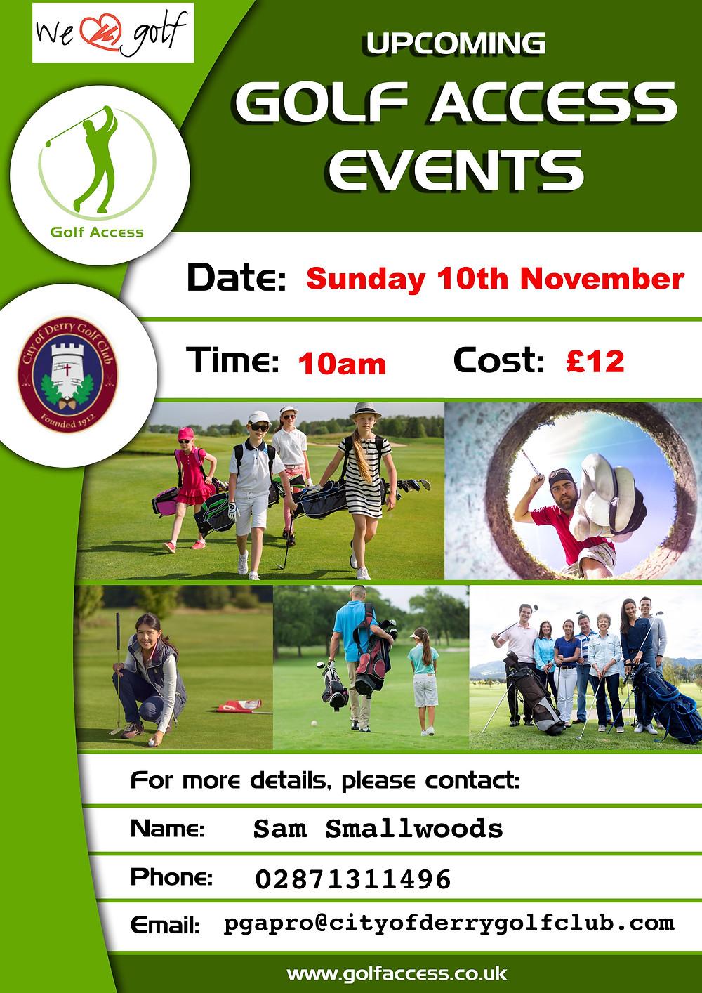 Golf Access event - City of Derry Golf Club