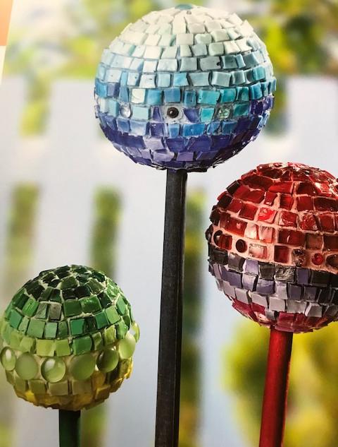 Rita's Mosaic Garden Spheres