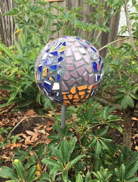 Rita's Garden Sphere Mosaic