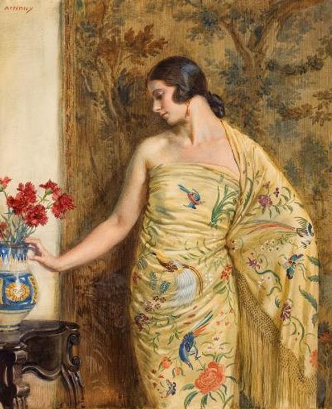 Lady in oriental dress by George Wynne O