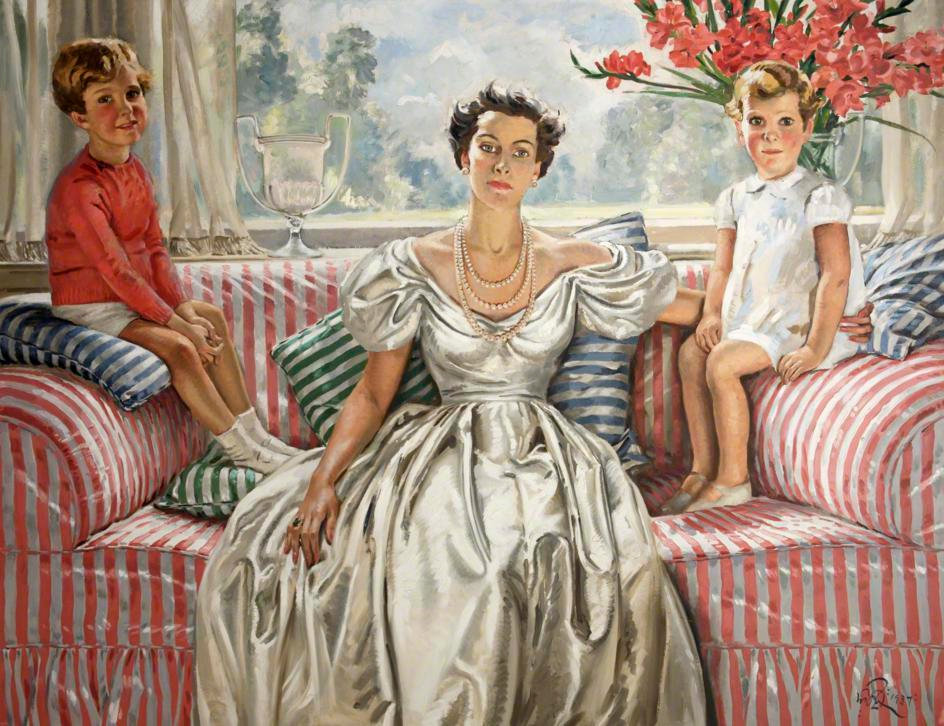 The Open Window These are my Jewels 1937 by William Bruce Ellis Ranken © Russell Cotes Art Gallery