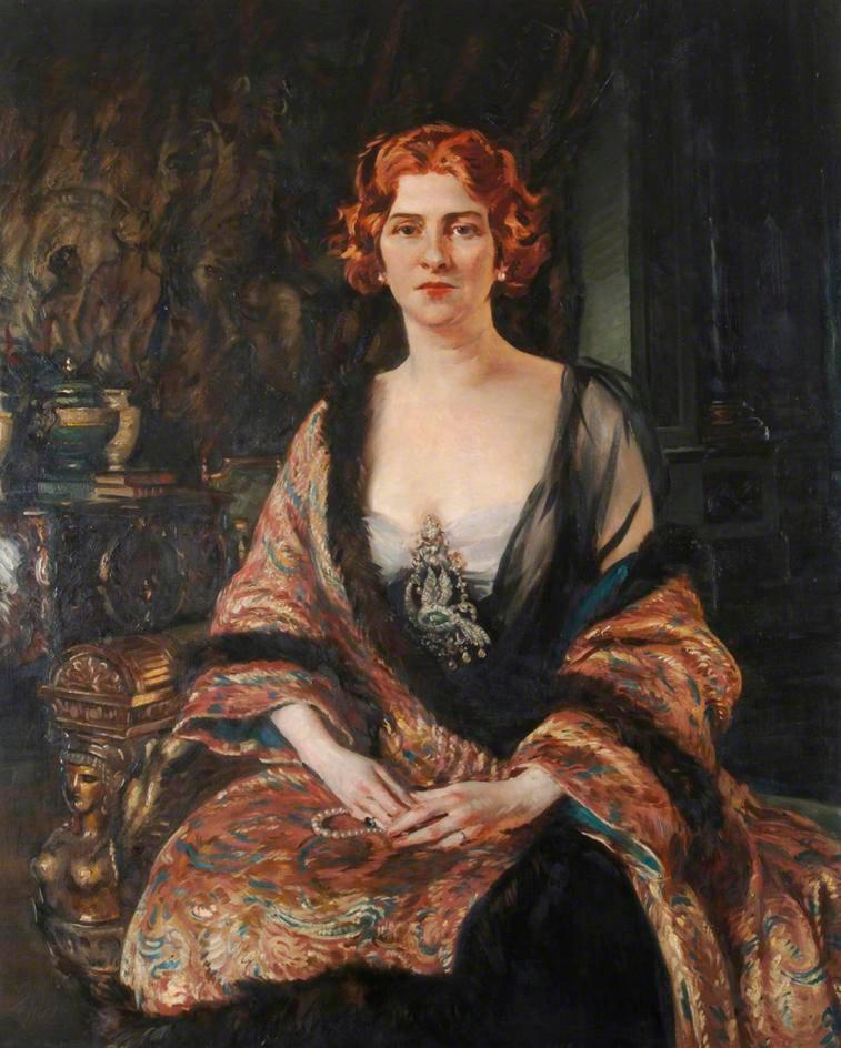 Baroness D'Erlanger 1918 by William Bruce Ellis Ranken © Portsmouth Museums