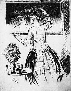 Fashion Sketches 1921 (03) Le Chapeau ne