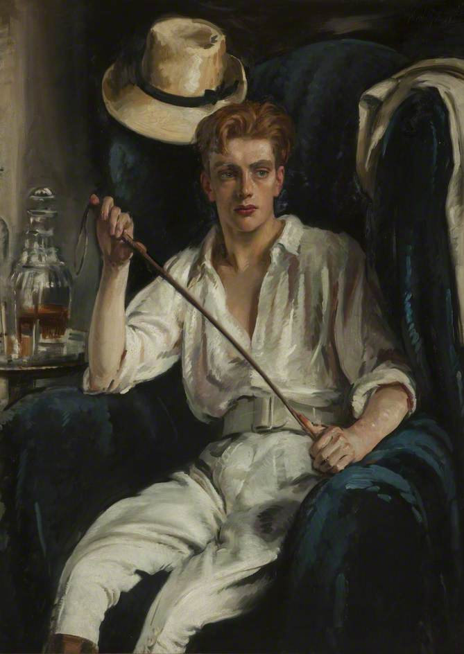 The Young Polo Player dated 1920 by William Bruce Ellis Ranken © Blackburn Museum and Art Gallery