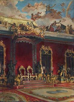 The Throne Room Royal Palace Madrid by William Bruce Ellis Ranken ©Edinburgh City Arts Centre