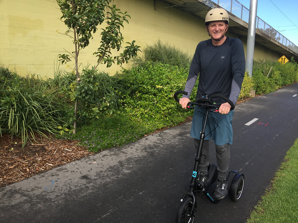 Able to exercise pain-free matt lost weight and regained strength by riding his Me-Mover