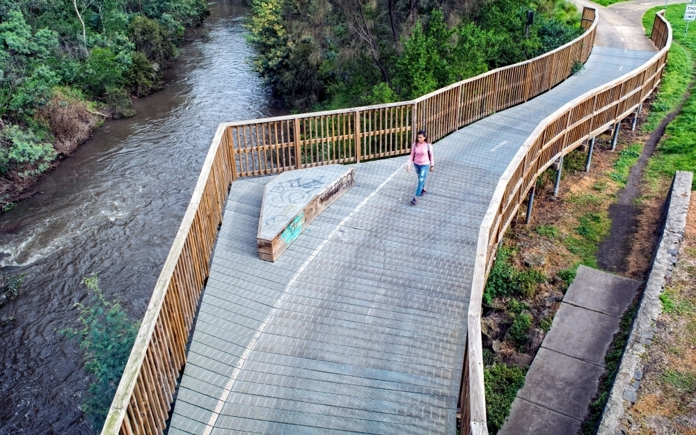 Merri Creek Trail and it's boardwalk are erfect for Me-Moving for your workout, exercise or commute
