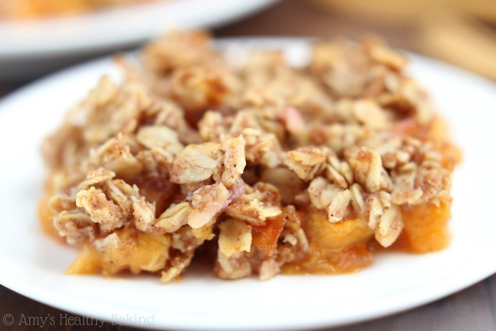 Clean Peach Oat Crumble is perfect for breakfast or dessert. Will give you plenty of energy to get out there and Me-Mover!