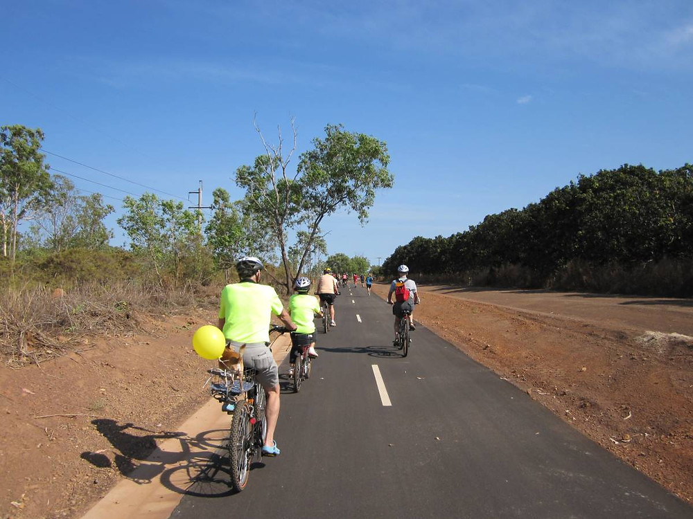The Darwin Rail Trail is perfect bike path  for Me-Movers in the Top End. Great to get outdoors and exercise.