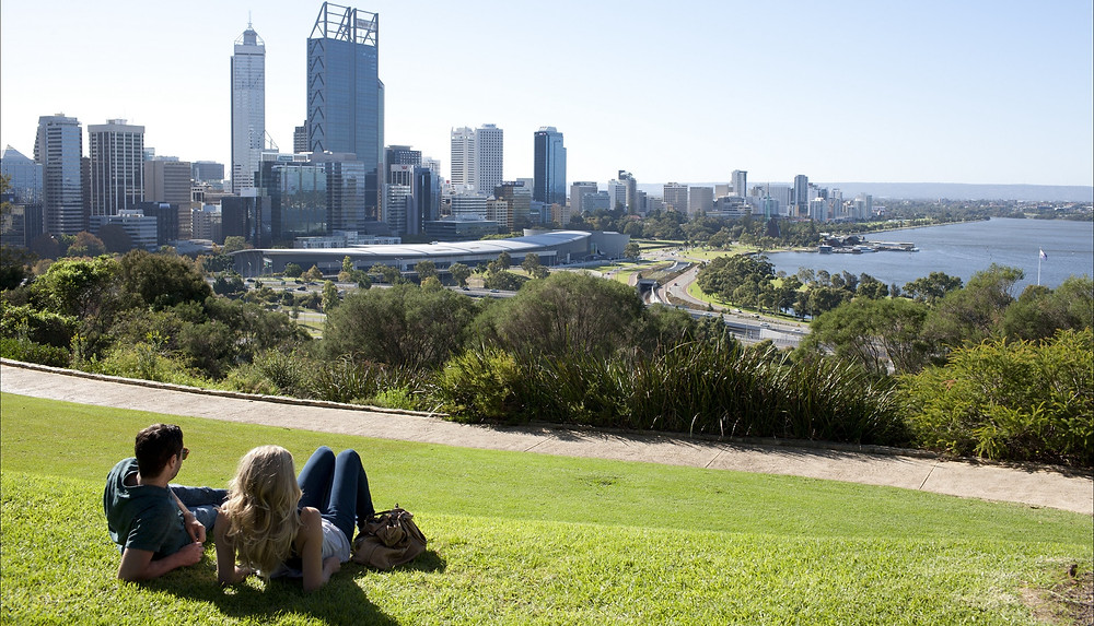 Kings park has stunning views of Perth city and plenty of cycleways for Me-Moving