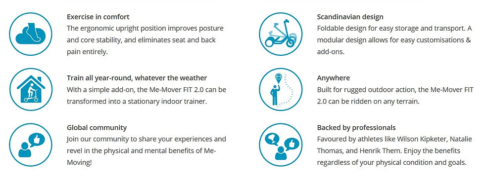 The Me-Mover is the best exercise equipment in Austraia. Similar to a stepper bike the uprigh design iproves posture ad eliminates back pain. Perfect as a commuter bike, the Me-Mover design is easily foldable for easy transport & storage.