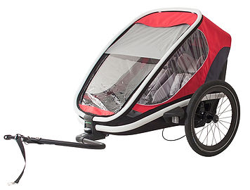 Strolz Rent-a-bike Hamax bike child transporter