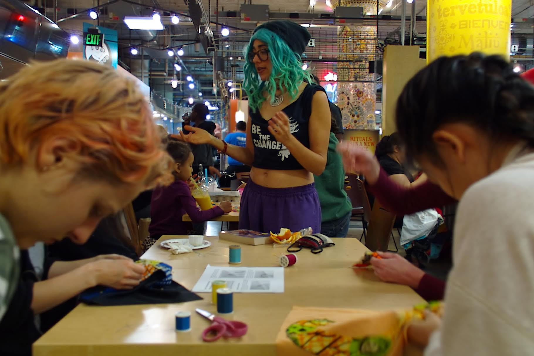 Photos from the AOI Sewing and Sambusas event