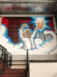 School wall mural