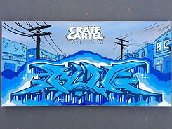Custom graffiti canvas