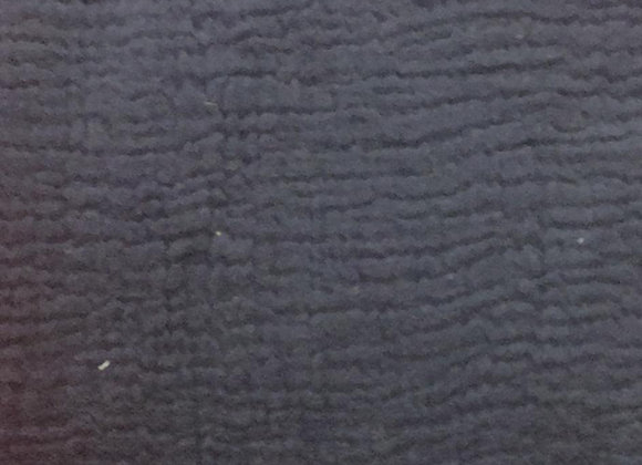 Uni - gaze de coton bleu marine
