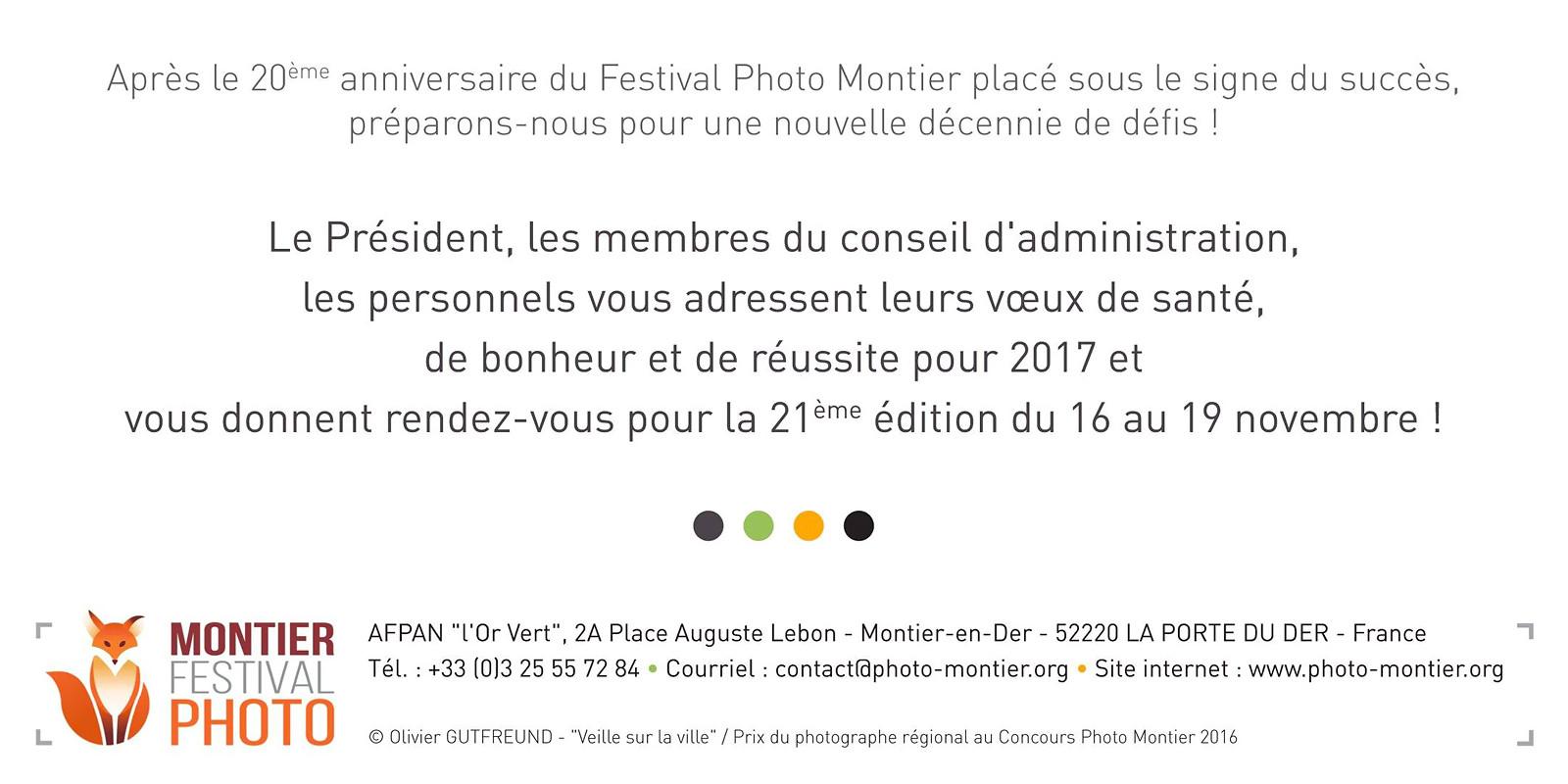 CARTE DE VOEUX MONTIER