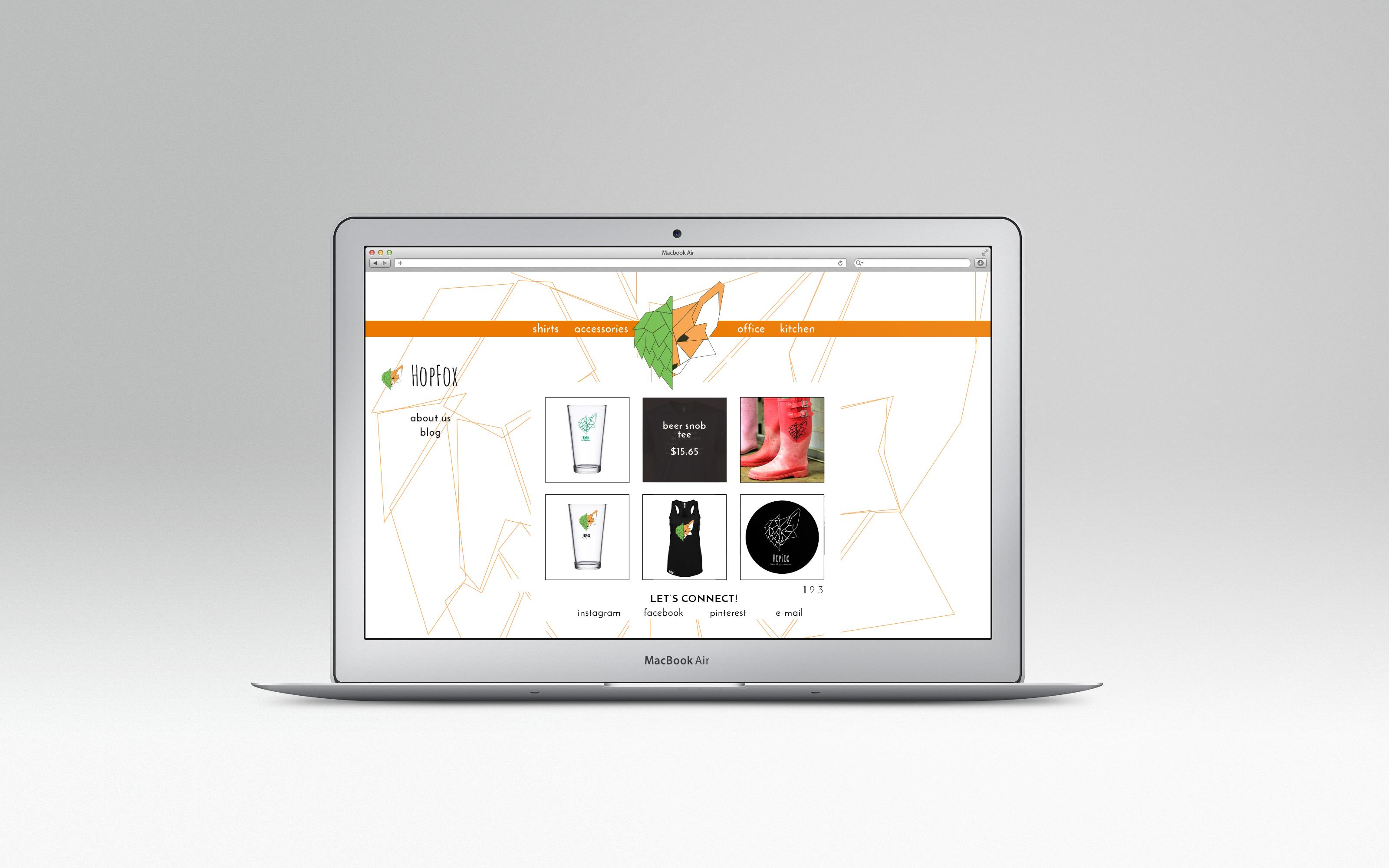 HopFox Shop Page