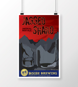 Jagged Shard Poster Hanging