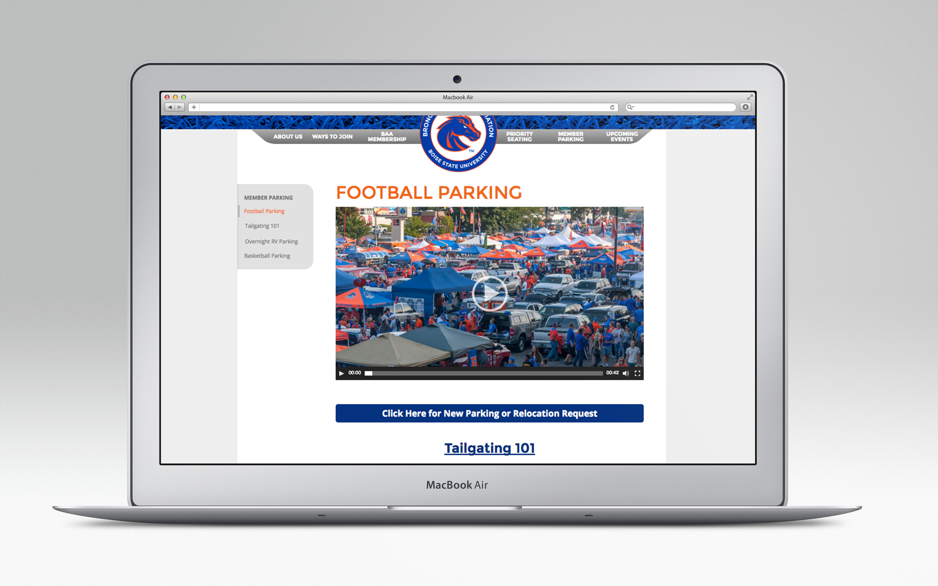 Site tailgating video example