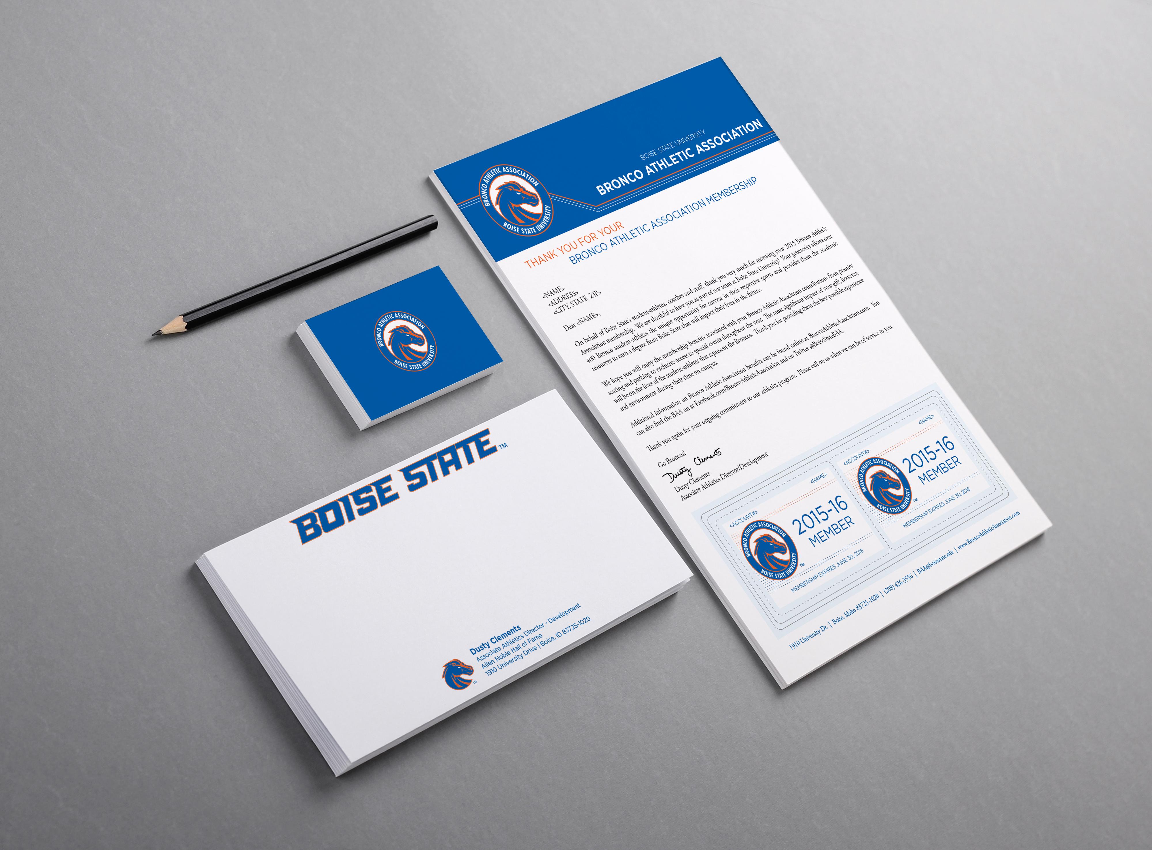 Membership, Thank you's & bus. cards