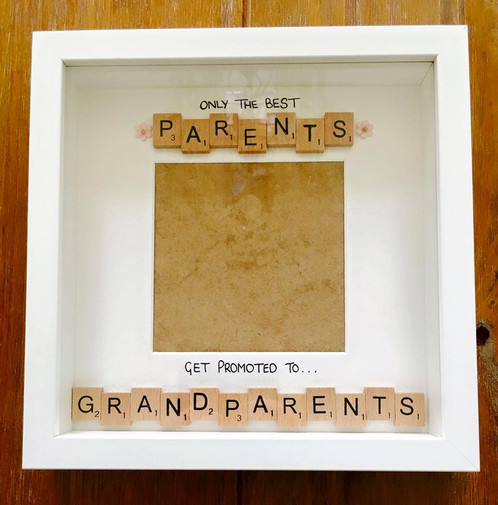 Parents to Grandparents frame | memories-by-alysia
