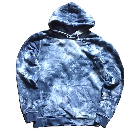 Batik Hoodie (blau) L
