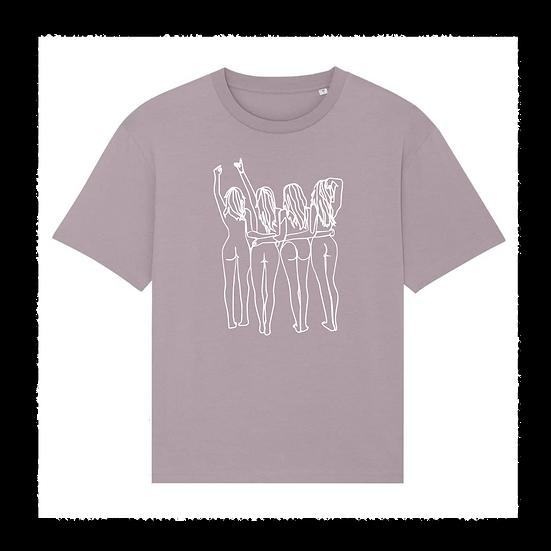 oversized Shirt 'PUSSYPOWER'
