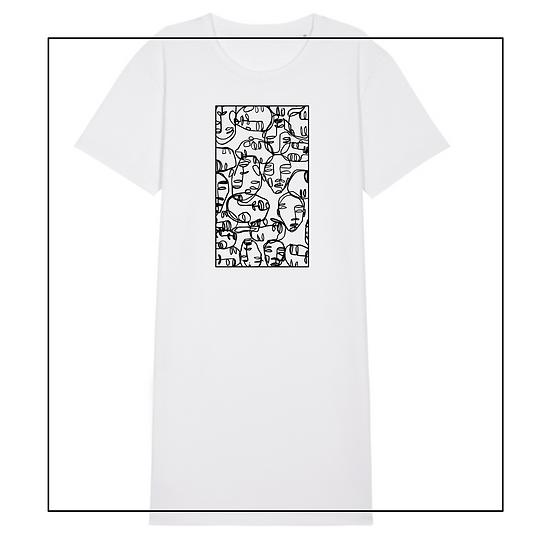T-shirt Kleid 'faces'