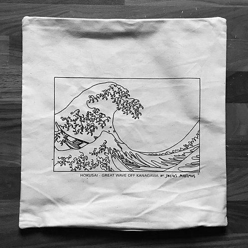 Pillow Case 'HOKUSAI WAVE by JM'