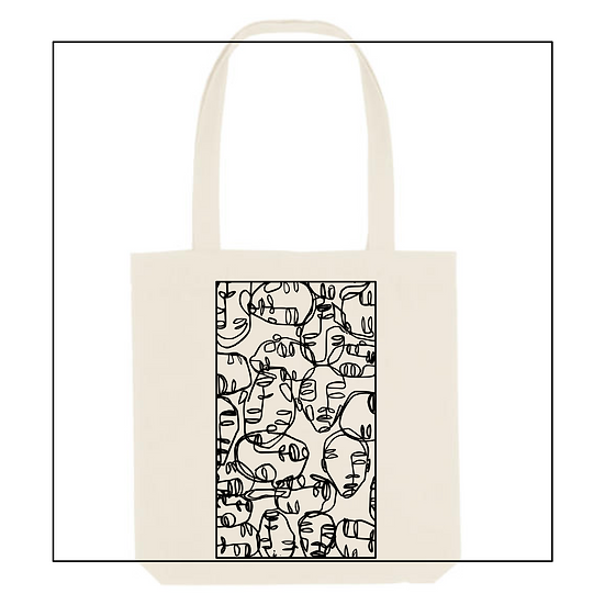 Shopper Bag 'faces'