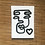 Thumbnail: Postkarten Set 'scribbled faces'