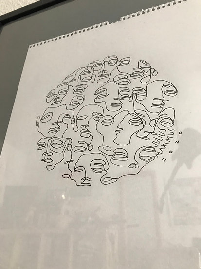 scribbled faces no. 12