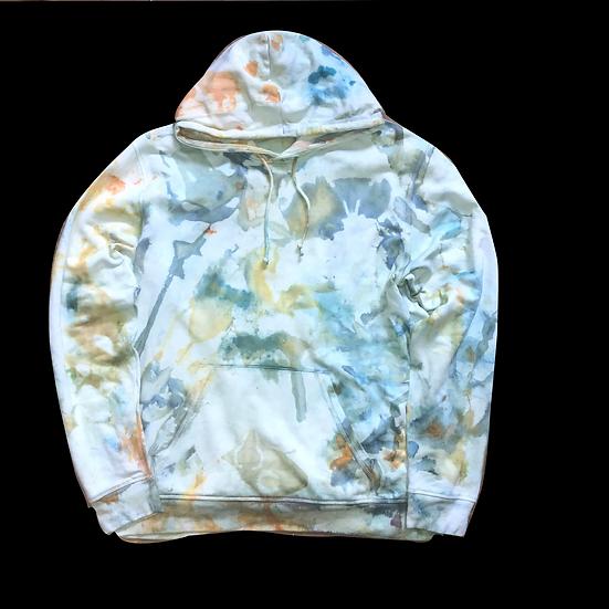 watercolor Batik Hoodie (no. 3)  XL