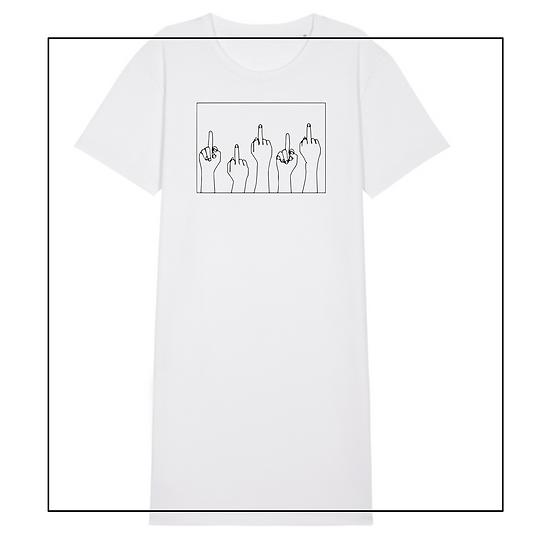 T-shirt Kleid 'middlefingers'