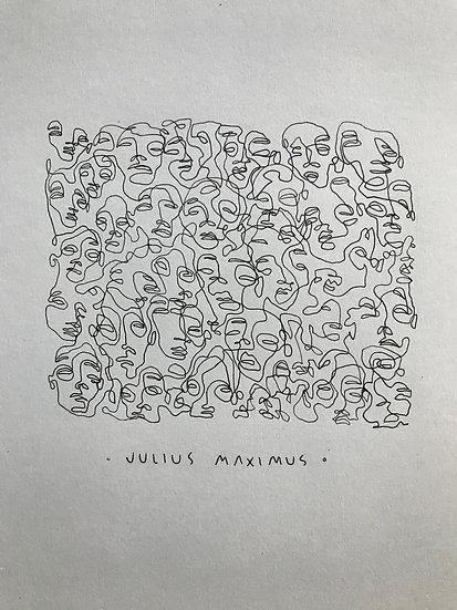 scribbled faces no. 9