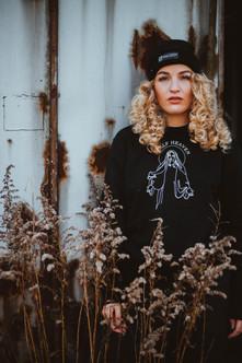 unisex Sweatshirt 'half half'