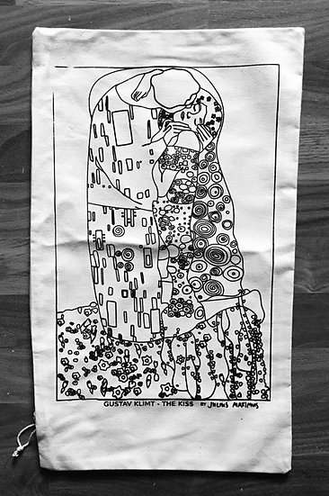 Pillow Case 'KLIMT - THE KISS by JM'