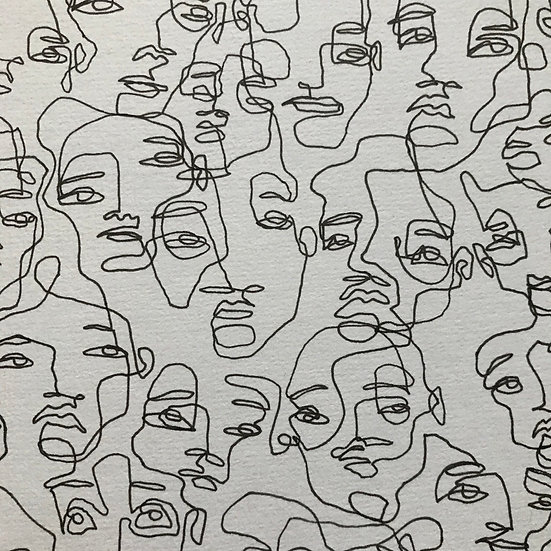 scribbled faces no. 13
