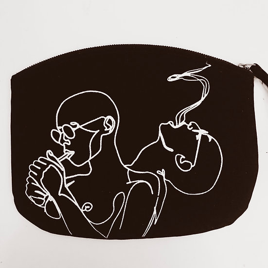 Cosmetic Bag 'inhale exhale'