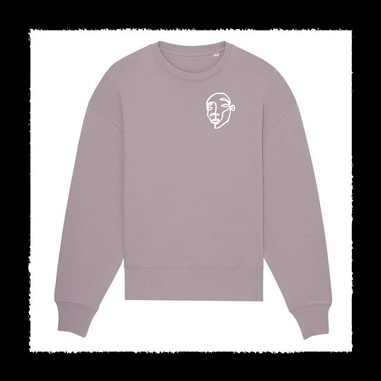oversized Sweatshirt 'SCRIBBLED FACES'