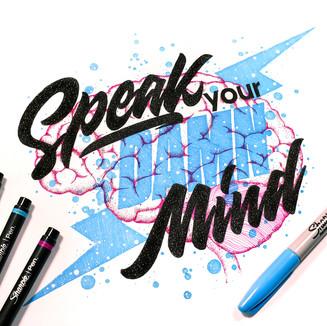 Sharpie - Speak your Damn Mind