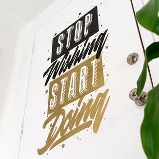 Sharpie - Stop Wishing, Start Doing